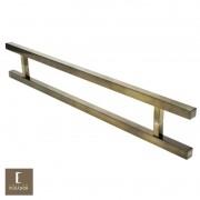 Puxador Para Portas Duplo em Aço Inox 304 Modelo Aristocrata Antique Ouro Velho para portas: pivotantes/madeira/vidro temperado/porta alumínio e portões