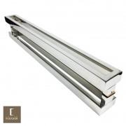 Puxador Para Portas Duplo em Aço Inox 304 Modelo Astro Polido Brilhante para portas: pivotantes/madeira/vidro temperado/porta alumínio e portões