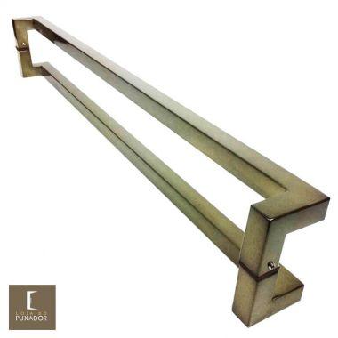 Puxador Para Portas Duplo em Aço Inox 304 Modelo Athenas Antique Ouro Velho para portas: pivotantes/madeira/vidro temperado/porta alumínio e portões