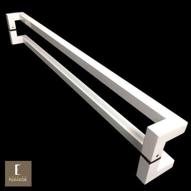 Puxador Para Portas Duplo em Aço Inox 304 Modelo Athenas Branco para portas: pivotantes/madeira/vidro temperado/porta alumínio e portões