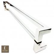 Puxador Para Portas Duplo em Aço Inox 304 Modelo Athenas Polido Brilhante para portas: pivotantes/madeira/vidro temperado/porta alumínio e portões