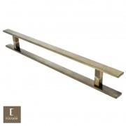 Puxador Para Portas Duplo em Aço Inox 304 Modelo Clean Antique Ouro Velho para portas: pivotantes/madeira/vidro temperado/porta alumínio e portões