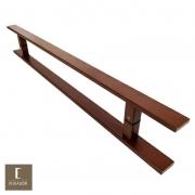 Puxador Para Portas Duplo em Aço Inox 304 Modelo Clean Corten para portas: pivotantes/madeira/vidro temperado/porta alumínio e portões
