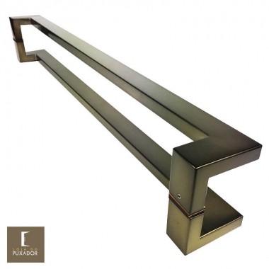Puxador Para Portas Duplo em Aço Inox 304 Modelo Grécia Antique Ouro Velho para portas: pivotantes/madeira/vidro temperado/porta alumínio e portões