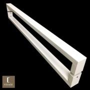Puxador Para Portas Duplo em Aço Inox 304 Modelo Greco Branco para portas: pivotantes/madeira/vidro temperado/porta alumínio e portões