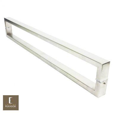 Puxador Para Portas Duplo em Aço Inox 304 Modelo Greco Escovado para portas: pivotantes/madeira/vidro temperado/porta alumínio e portões