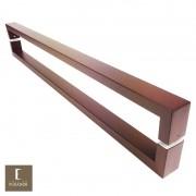 Puxador Para Portas Duplo em Aço Inox 304 Modelo Greco Padrão Corten para portas: pivotantes/madeira/vidro temperado/porta alumínio e portões