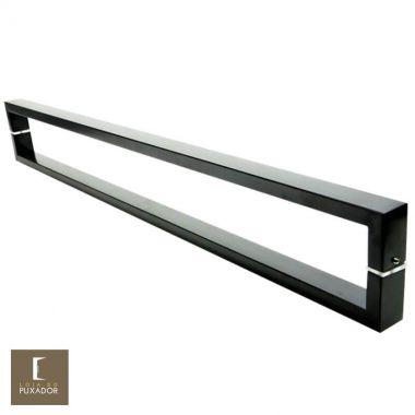 Puxador Para Portas Duplo em Aço Inox 304 Modelo Greco Preto para portas: pivotantes/madeira/vidro temperado/porta alumínio e portões