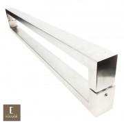 Puxador Para Portas Duplo em Aço Inox 304 Modelo Hércules Escovado para portas: pivotantes/madeira/vidro temperado/porta alumínio e portões