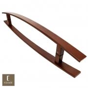 Puxador Para Portas Duplo em Aço Inox 304 Modelo Lugui Corten para portas: pivotantes/madeira/vidro temperado/porta alumínio e portões