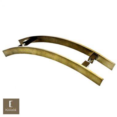 Puxador Para Portas Duplo em Aço Inox 304 Modelo Novitá Antique Ouro Velho
