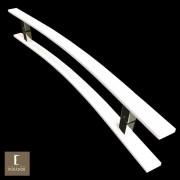 Puxador Para Portas Duplo em Aço Inox 304 Modelo Novitá Branco para portas: pivotantes/madeira/vidro temperado/porta alumínio e portões