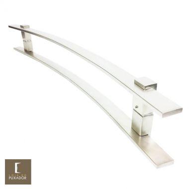 Puxador Para Portas Duplo em Aço Inox 304 Modelo Paola Escovado