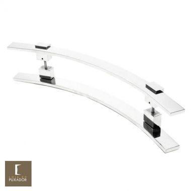 Puxador Para Portas Duplo em Aço Inox 304 Modelo Paola Polido Brilhante para portas: pivotantes/madeira/vidro temperado/porta alumínio e portões