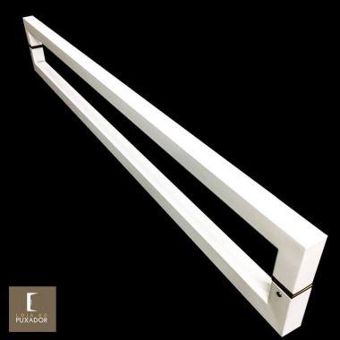 Puxador Para Portas Duplo em Aço Inox 304 Modelo Slin Branco para portas: pivotantes/madeira/vidro temperado/porta alumínio e portões