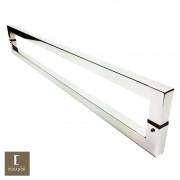 Puxador Para Portas Duplo em Aço Inox 304 Modelo Slin Polido Brilhante para portas: pivotantes/madeira/vidro temperado/porta alumínio e portões