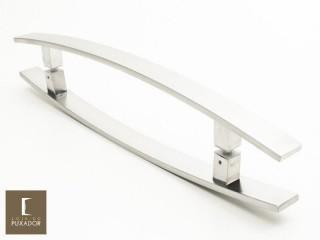 Puxador Para Portas Duplo INOX ESCOVADO (LUGUI) Tam. 80 CM. Para portas Pivotante /Madeira /Vidro/Alumínio.