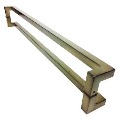Puxador Portas Duplo Aço Inox Antique Ouro Velho Athenas 1 m para portas: pivotantes/madeira/vidro temperado/porta alumínio e portões
