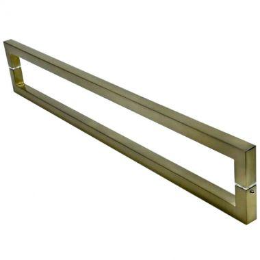 Puxador Portas Duplo Aço Inox Antique Ouro Velho Slin 40 cm para portas: pivotantes/madeira/vidro temperado/porta alumínio e portões