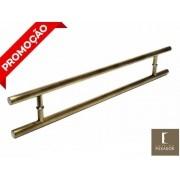 Puxador Portas Duplo Aço Inox Antique Ouro Velho Soft 50 cm para portas: pivotantes/madeira/vidro temperado/porta alumínio e portões