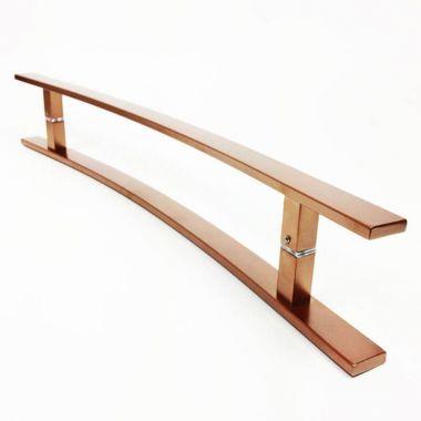 Puxador Portas Duplo Aço Inox Cobre Acetinado Novita 1 m para portas: pivotantes/madeira/vidro temperado/porta alumínio e portões.
