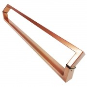 Puxador Portas Duplo Aço Inox Cobre Acetinado Style 2 m para portas: pivotantes/madeira/vidro temperado/porta alumínio e portões