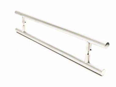 Puxador Portas Duplo Aço Inox Escovado Grand Soft 60 cm para portas: pivotantes/madeira/vidro temperado/porta alumínio e portões