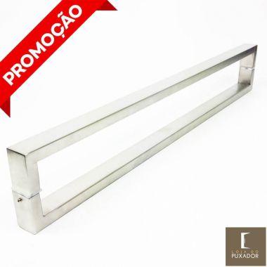 Puxador Portas Duplo Aço Inox Escovado Greco 1,2 m para portas: pivotantes/madeira/vidro temperado/porta alumínio e portões