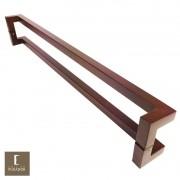 Puxador Portas Duplo Aço Inox Padrão Corten Athenas 1,5 m para portas: pivotantes/madeira/vidro temperado/porta alumínio e portões