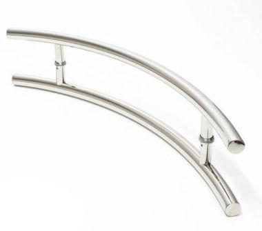 Puxador Portas Duplo Aço Inox Polido Belissima 40 cm para portas: pivotantes/madeira/vidro temperado/porta alumínio e portões