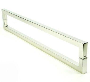 Puxador Portas Duplo Aço Inox Polido Slin 30 cm para portas: pivotantes/madeira/vidro temperado/porta alumínio e portões