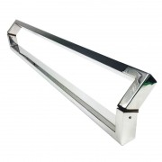 Puxador Portas Duplo Aço Inox Polido Style 80 cm para portas: pivotantes/madeira/vidro temperado/porta alumínio e portões
