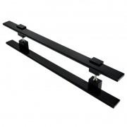 Puxador Portas Duplo Aço Inox Preto Luma 50 cm para portas: pivotantes/madeira/vidro temperado/porta alumínio e portões