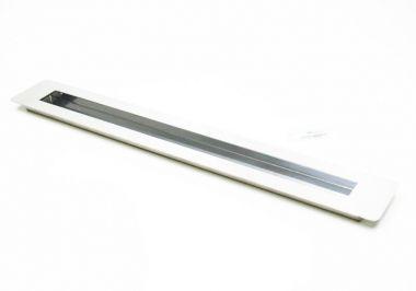 Puxador Portas Embutir Concha Aço Inox Escovado 40 cm para portas: pivotantes/madeira/vidro temperado/porta alumínio e portões
