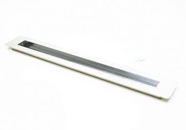 Puxador Portas Embutir Concha Aço Inox Escovado 80 cm para portas: pivotantes/madeira/vidro temperado/porta alumínio e portões