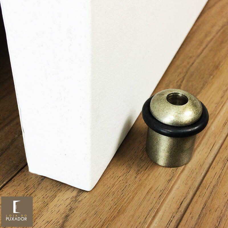 Amortecedor e Batedor de Porta ouro velho antique  - Loja do Puxador