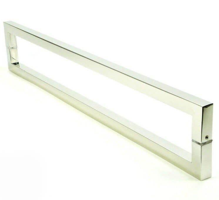 Puxador Portas Duplo Aço Inox Polido Slin 2 m para portas: pivotantes/madeira/vidro temperado/porta alumínio e portões   - Loja do Puxador