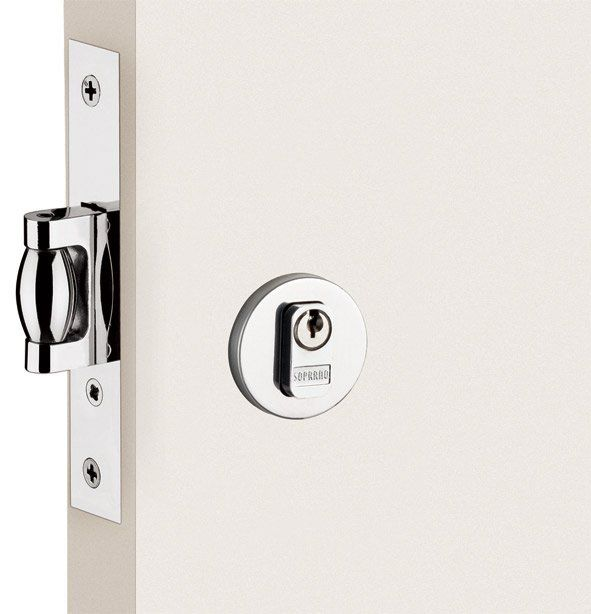 KIT Puxador Para Portas Duplo AÇO INOX ESCOVADO (GRAND SOFT). 70 CM + fechadura soprano 53 escovado + batedor porta escovado   - Loja do Puxador