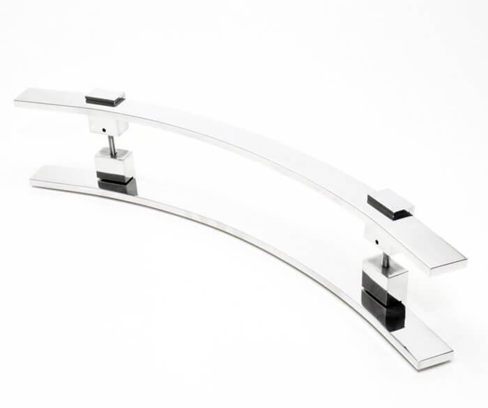 Puxador Aço Inox Polido/Cromado Para Porta Vidro Temperado Blindex (PAOLA)  - Loja do Puxador