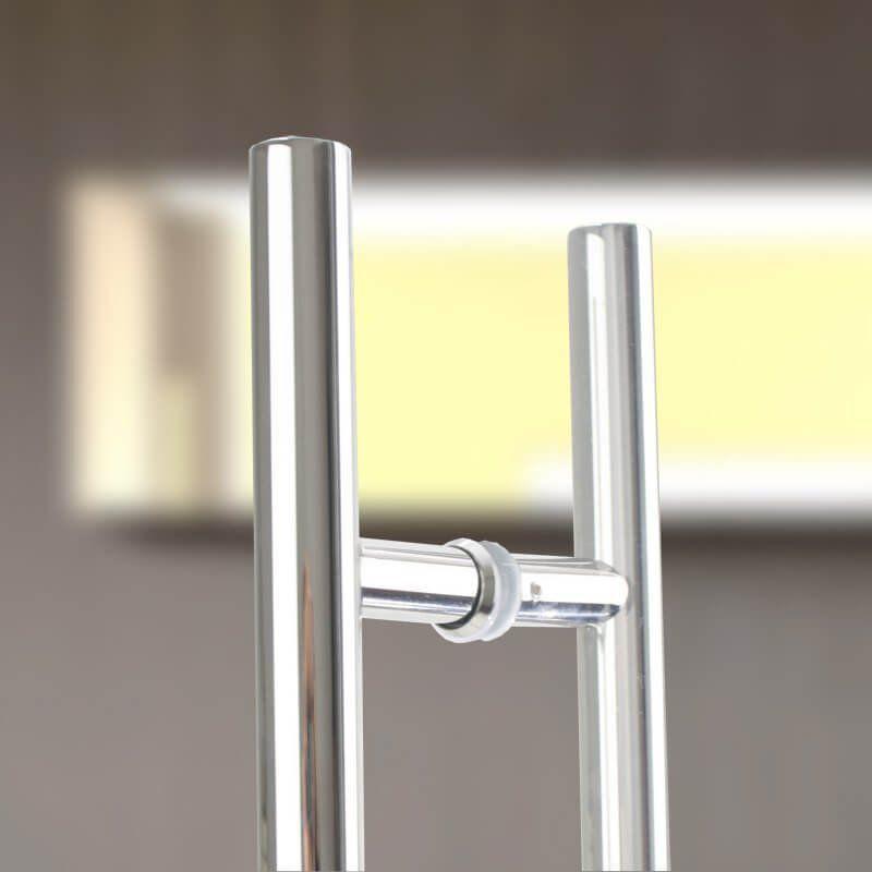 Puxador Aço Inox Polido/Cromado Para Porta Vidro Temperado Blindex (SOFT)  - Loja do Puxador
