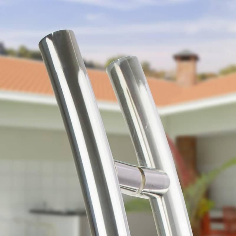 Puxador Aço Inox Polido/Cromado Para Porta Vidro Temperado Blindex (SOLARES)  - Loja do Puxador
