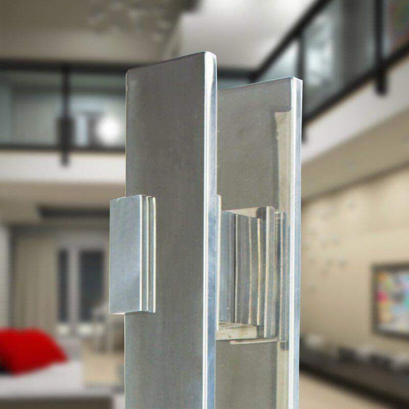 Puxador Aço Inox Polido/Cromado Para Porta Vidro Temperado Blindex (TAURUS EXTRA GRANDE)  - Loja do Puxador