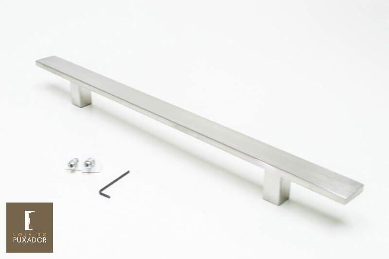 Puxador Para Portas 1 LADO AÇO INOX ESCOVADO - (CLEAN)  - Loja do Puxador