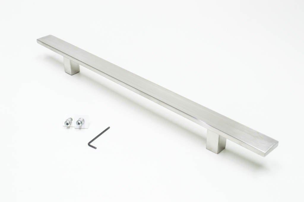 Puxador Para Portas (1 LADO)AÇO INOX ESCOVADO - (CLEAN)  - Loja do Puxador