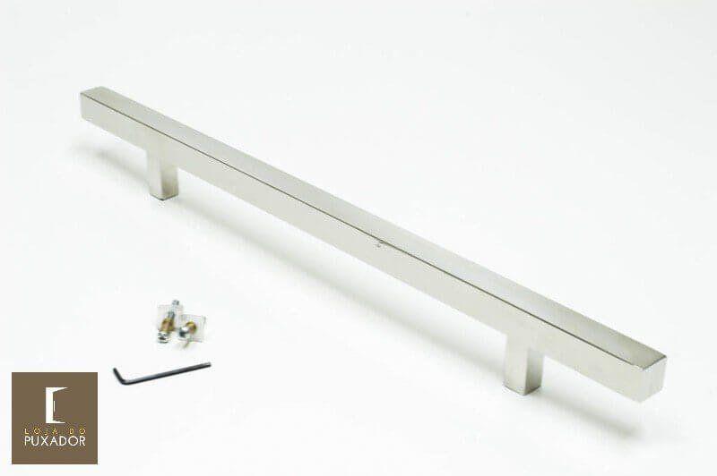 Puxador Para Portas (1 LADO)AÇO INOX POLIDO-ARISTOCRATA .  - Loja do Puxador