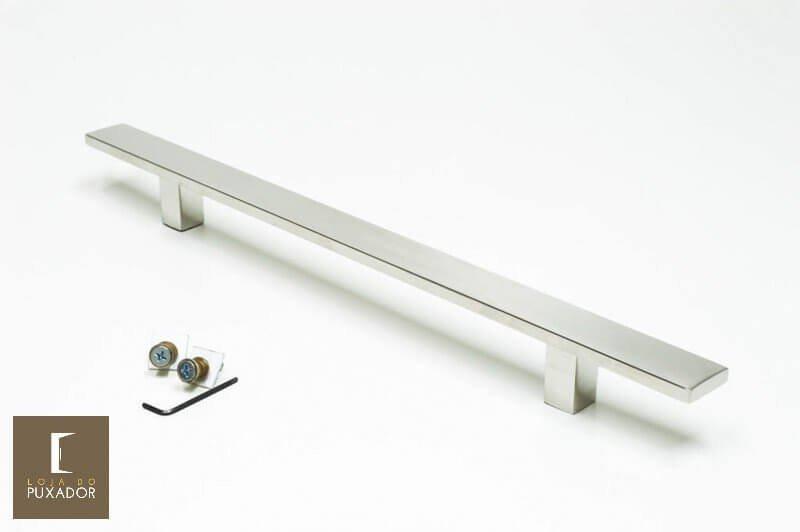 Puxador Para Portas (1 LADO)AÇO INOX POLIDO - (CLEAN)  - Loja do Puxador