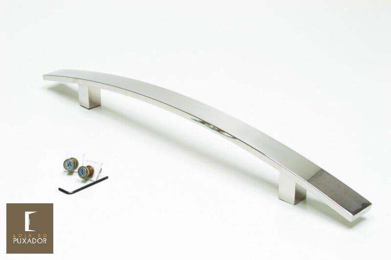 Puxador Para Portas (1 LADO)AÇO INOX POLIDO- (LUGUI)  - Loja do Puxador