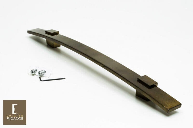 Puxador Para Portas 1 LADO OURO VELHO ANTIQUE  - ALBA  - Loja do Puxador