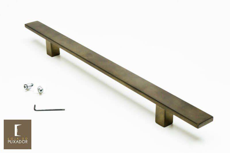 Puxador Para Portas 1 LADO OURO VELHO ANTIQUE - (CLEAN)  - Loja do Puxador