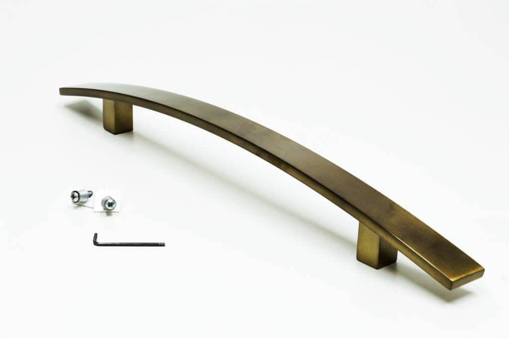 Puxador Para Portas ( 1 LADO ) OURO VELHO ANTIQUE - (LUGUI)  - Loja do Puxador